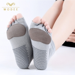 Non slip toeless yoga socks cotton yoga pilates socks women