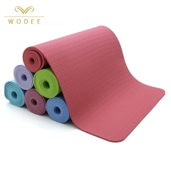 Custom logo 4mm 6mm 8mm thickness eco friendly TPE yoga mat non slip