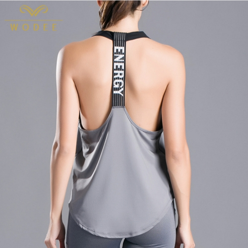 Customized logo quick dry vest loose fitness women tank tops gym