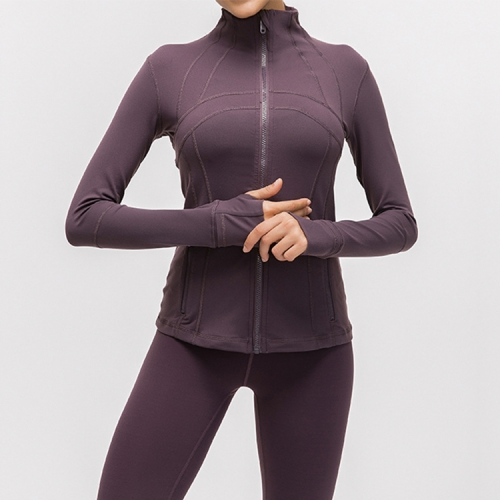 Custom logo tops sportswear women gym wear coat fitness wear long sleeve yoga jacket