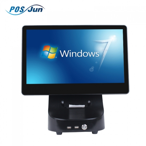 2018 New Design Windows all in one touch screen pos system price/pos machine/pos terminal with printer