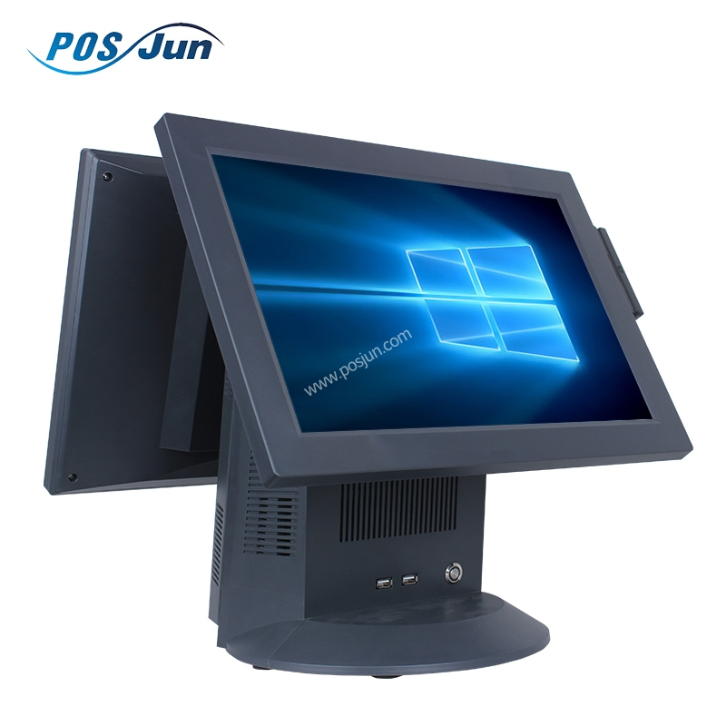 POS Touch Screen Double Display All In One Point Of Sale Terminal with MSR,POS Machine C568P