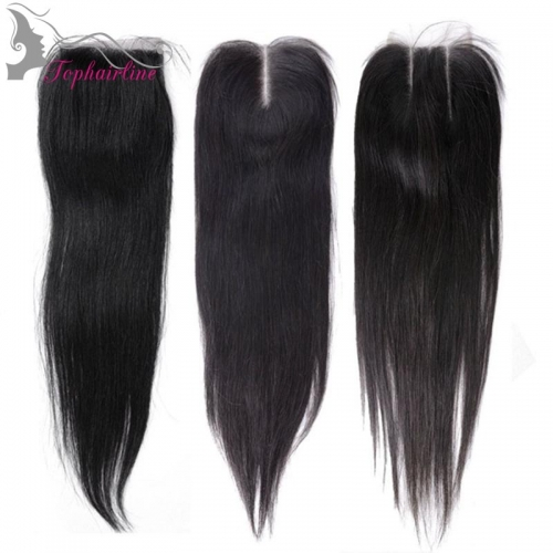 Wholesale 4*4 Straight Virgin Brazilian Hair Lace Closure