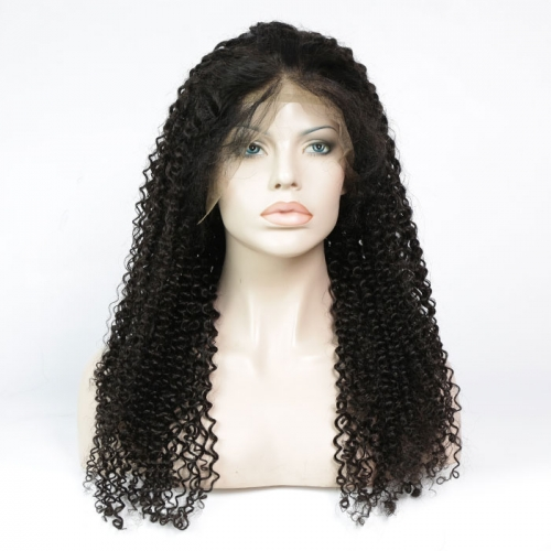 360 Frontal Lace Wig Deep Curly Virgin Hair