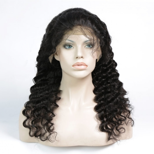 360 Frontal Lace Wig Loose Deep Curly Virgin Hair