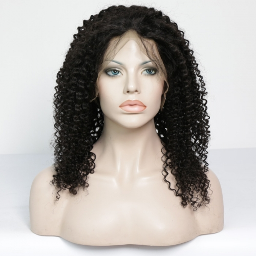 Full Lace Wig Deep Curly Virgin Hair