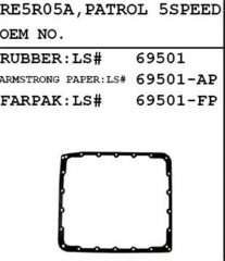 RE5R05A OIL PAN GASKET PARTOL LS 69501 05A-0001-AM
