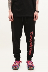 [No.853] Vetements letter jogging pants black