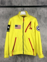 [No.663] SUP Expedition fleece jacket Olive Yellow Blue