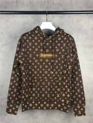 [No.827] Old box logo hoodie brown