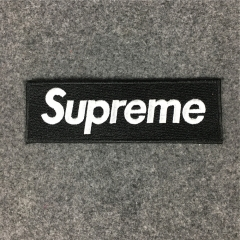 [No.887] Free Shipping Box logo Embroidery Patch red black