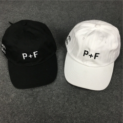 [No.750] Free shipping PLACES + FACES Letter Logo Dad Hat black white