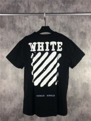 Free shipping Off Wihte Faded Logo Tee black white