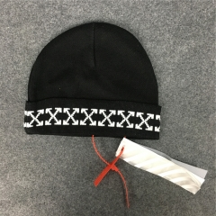 [No.543] Free shipping Off-white 2017 logo beanie
