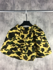 HG [No.700] Free shipping 1st full yellow camo short skirt