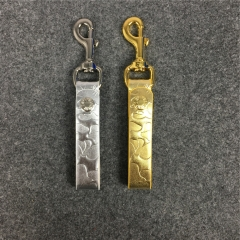 [No.594] Free shipping Camo Keychain gold silver