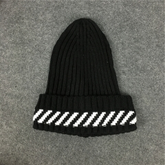 [NO.961]Free Shipping Off White Beanie black
