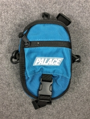 Free shipping Palace 17ss Logo Shot Bag navy blue