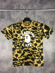 Free shipping Full Yellow Camo Ape Logo Tee