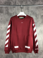 [No.683] off-white 17fw Classic Logo Jumper Burgundy