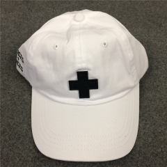 [No.749] Free shipping PLACES + FACES Cross Logo Dad Hat black white burgundy