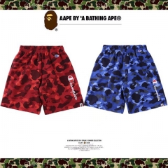 [No.494] Champ x Bape camo shorts red