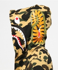[No.466] High version Bape 1ST OG Full Camo Shark Full Zip up Hoodies Yellow Camo