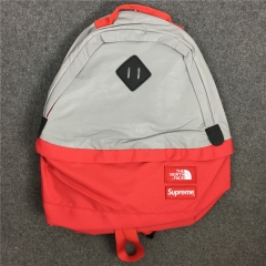 Free shipping Sup x Tnf 3M backpack black red