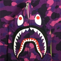 [NO.993]Version Bape 1ST OG Full Camo Shark Full Zip up Hoodies Purple Camo