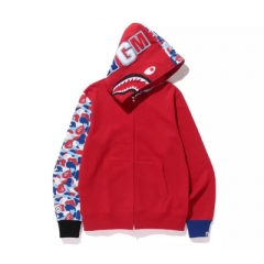 [No.462] Paris Limited Red Half Camo Shark Hoodie