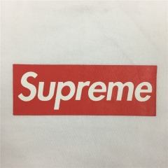 Free shipping OG  Red Box Logo tee white