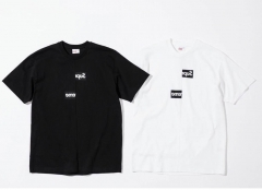 [No.413] Free Shipping x CDG 18FW Box Logo Tee Black/White