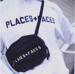[No.784] Free shipping Places + Face shoulder bag black