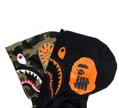 [No.397] Bape x Undefeated Double Head Shark Hoodie Black
