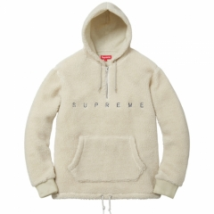 [No.712] 15FW Sherpa Fleece Pullover Hoodies White Black