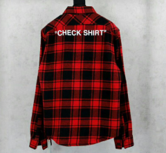 [No.376] Off White OW Check Shirt Red