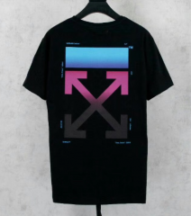 [No.372] Free shipping OFF WHTIE OW RAINBOW TEE BLACK