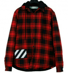 [No.362] OFF WHITE OW QUILTED CHECK SHIRT
