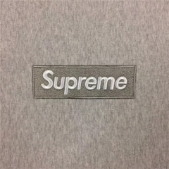 [No.353] Sup Box Logo Hoodie Grey on Grey