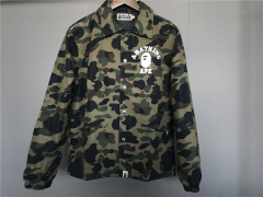 [No.724] Free shipping Camo Letter Coach Jacket 3 color