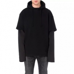 [No.896] VETEMENTS Gun Double Sleeved Hoodie black
