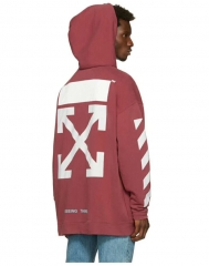 [No.685] off-white 17fw Classic Logo Hoodie Burgundy