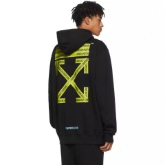 [No.577] Off-white Warning Line Hoodie