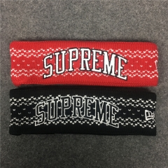 [No.297] Free shipping 17FW Logo Headband black red