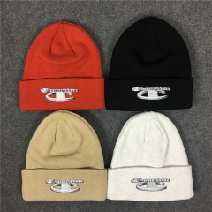 [No.301] Free shipping Sup x Ch*mpion 18FW 3D Metallic Beanie 4 color
