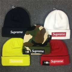 [No.299] Free shipping Sup 18FW Box Logo Beanie 11 color