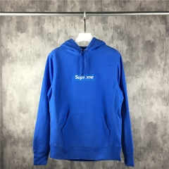[No.242] Blue on blue box logo hoodie