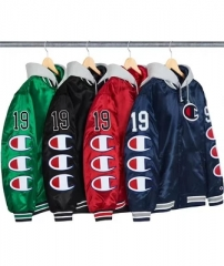 [No.235] 18FW SATIN VARSITY JACKET