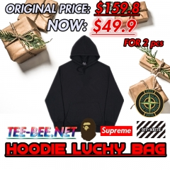 [No.258] HOODIE LUCKY BAG (2 PCS) Original Price $159.8 Present Price $49.9