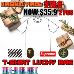 [No.256] FREE SHIPPING T-shirt LUCKY BAG (2PCS) Original Price$91.8 Present Price $35.9